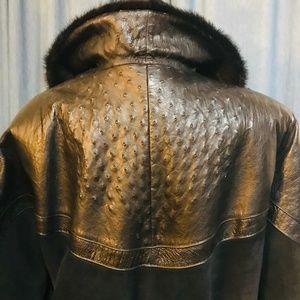 Beltrami Jackets & Coats - Vintage Beltrami Leather, Suede & Mink Coat